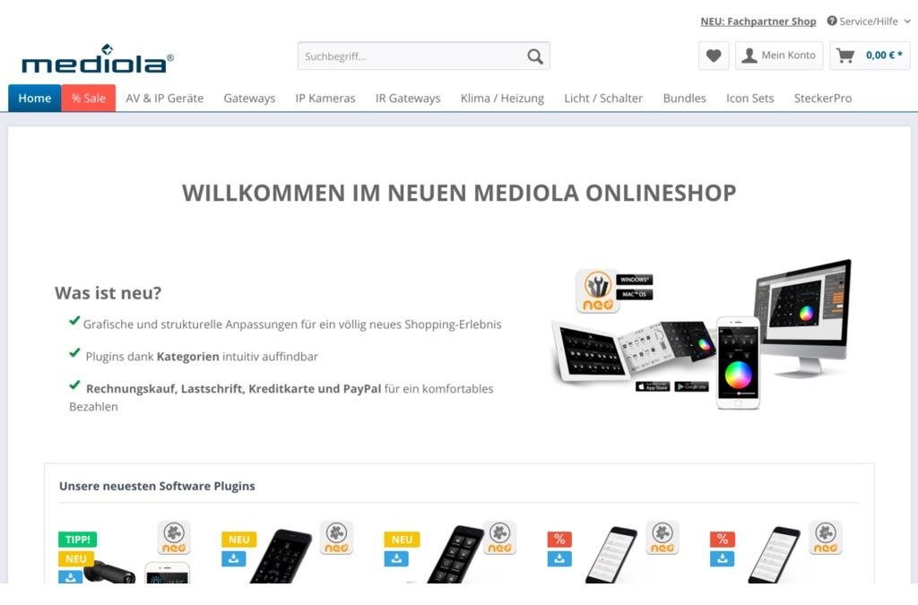 Mediola Endkunden & B2B-Shop