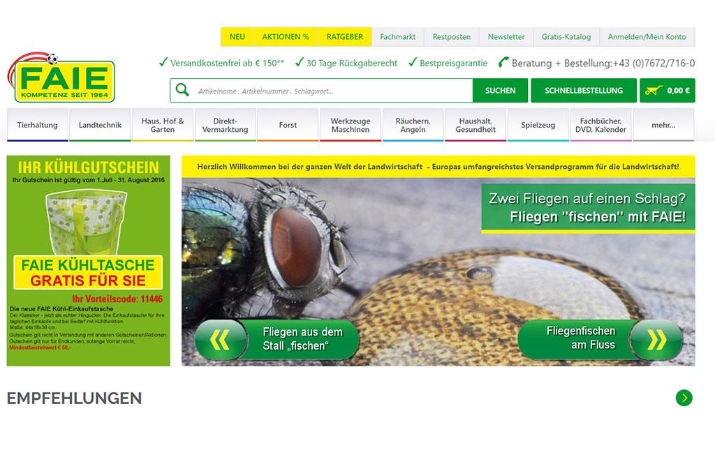 FAIE Online-Shop