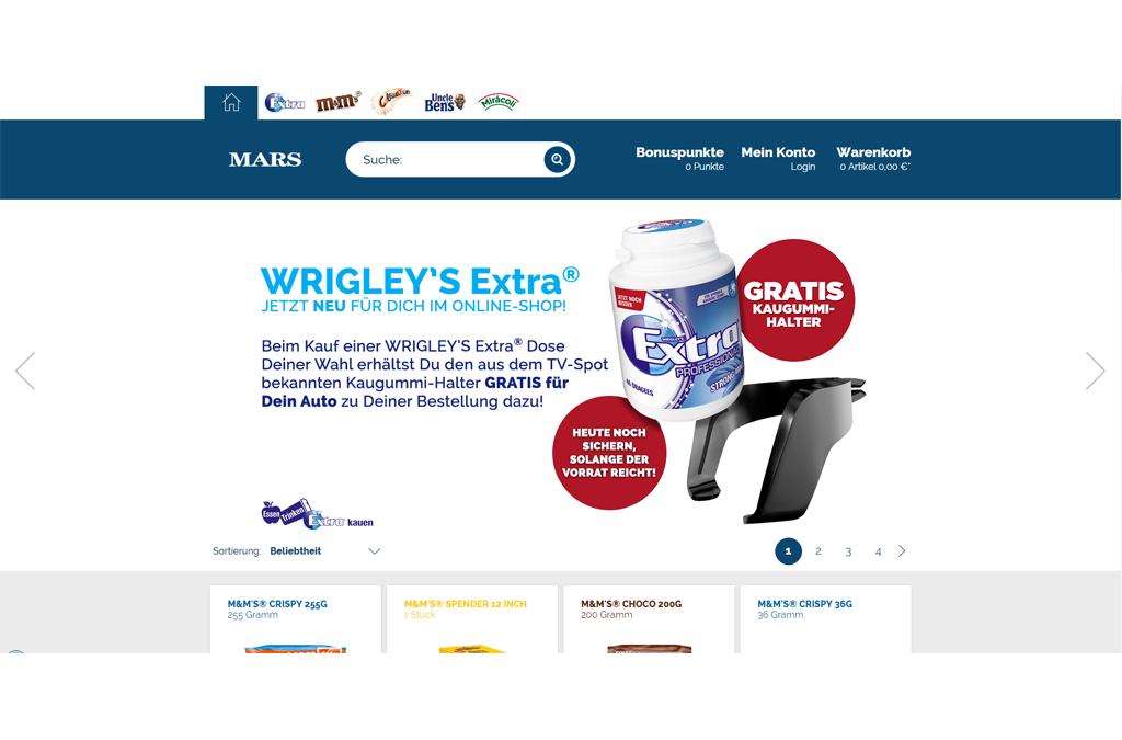 MARS Online-Shop